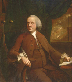 Benjamin Franklin of Philadelphia, von Mason Chamberlin, 1763